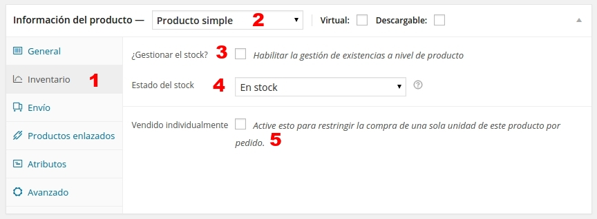 woo commerce producto simple 2